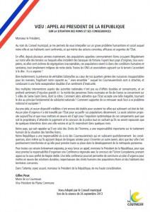 Roms - Appel au Président