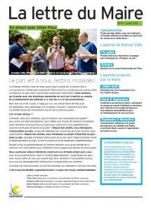 Lettre du Maire - Juillet 2015