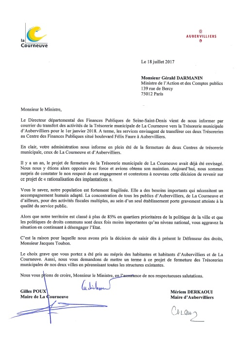 Courrier Darmanin